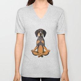 Yoga Bluetick Coonhound Dog Unisex V-Neck