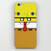 spongebob iPhone & iPod Skins featuring SpongeBob by nu boniglio