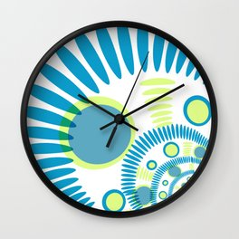 The blue graphical design Wall Clock