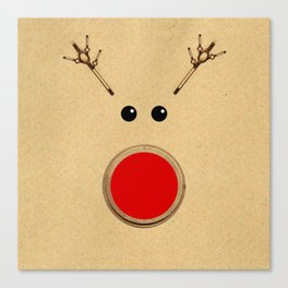Reindeer Rudolph's Red Nose  Canvas Print