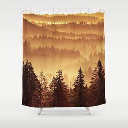 Golden Trees Shower Curtain