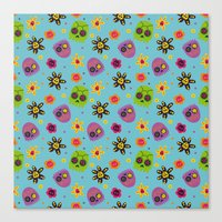 sugar skulls Canvas Prints featuring Sugar Skulls by grrrenadine