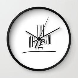 organist organ pipes in church music Wall Clock