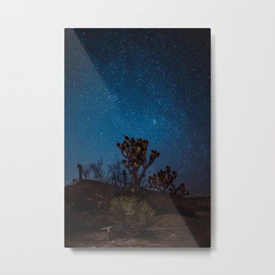 Midnight Stars at Joshua Tree Metal Print