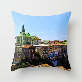 Cerro Conception, Valparaiso, Chile Throw Pillow
