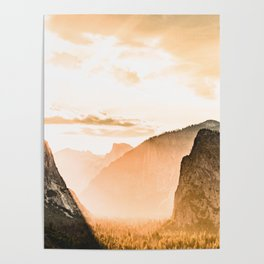 Yosemite Valley Burn - Sunrise Poster