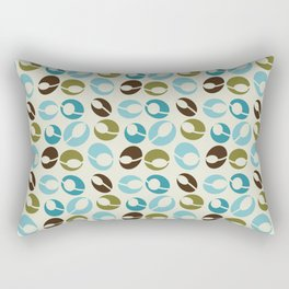 Mid-Century Modern Martini (teal) Rectangular Pillow