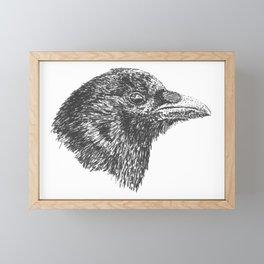 Crow Visage Framed Mini Art Print
