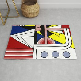 A digitally reworked famous pop art Rug