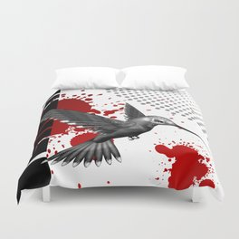 Trash Polka Flying Hummingbird Geometric Shapes Duvet Cover