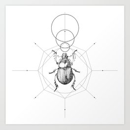 Dots, Lines & Beetle Art Print