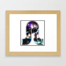 PRETTY LIGHTS Framed Art Print