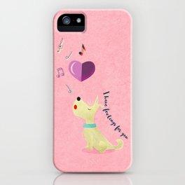 Valentine's Westie Dog in Love iPhone Case