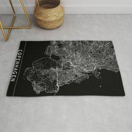 Copenhagen Black Map Rug