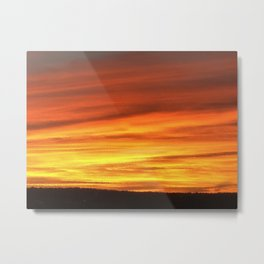 Wildfire in the North Metal Print