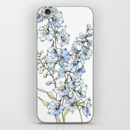 Blue Delphinium Flowers iPhone Skin