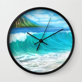 Mermaid's mountain Wall Clock