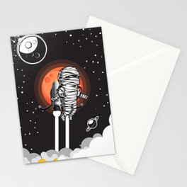 Mummy on Space Journey Stationery Cards