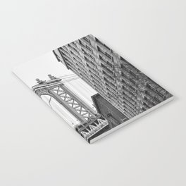Brooklyn Bridge in New York, USA | Photography print | abstract travel art | Tipical NY building architecture photo Art Print Notebook