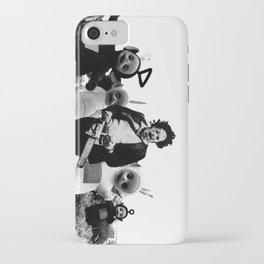 Leatherface with Teletubbies iPhone Case