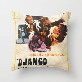 Django unchained alternative poster Throw Pillow