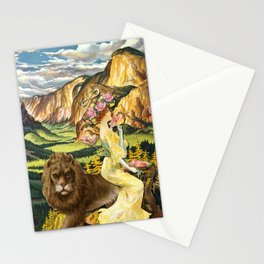THE STRENGHT TAROT CARD Stationery Cards
