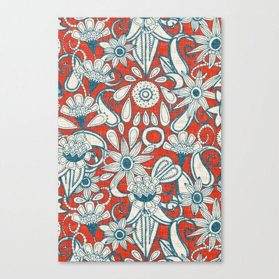 sarilmak fire orange blue Canvas Print