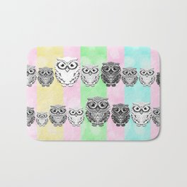 Little Hoots Stripes Monochrome Bath Mat