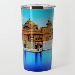 Classical Masterpiece 1825 Sri Harimandir Sahib - Golden Temple, Amritsar, India - Artist Unknown Travel Mug