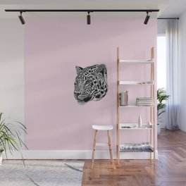 Amur leopard cub - pink - big cat Wall Mural