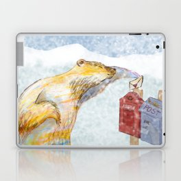Valentines polar bear Laptop & iPad Skin