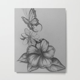 The flight of the butterfly Metal Print