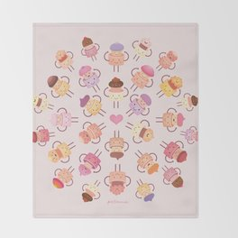 Cupcake Mandala Throw Blanket