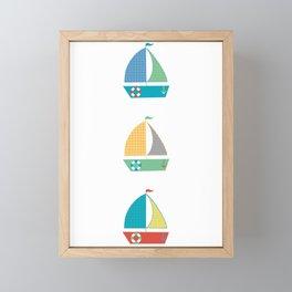 Sailing Framed Mini Art Print