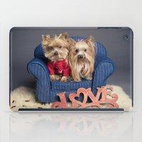 yorkie iPad Cases featuring Yorkie Love - Pet photography by Portrait Griffé par Geneviève Lacombe