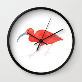 Les Animaux: Scarlet Ibis Wall Clock