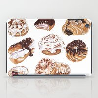 donuts iPad Cases featuring Donuts by heatherinasuitcase