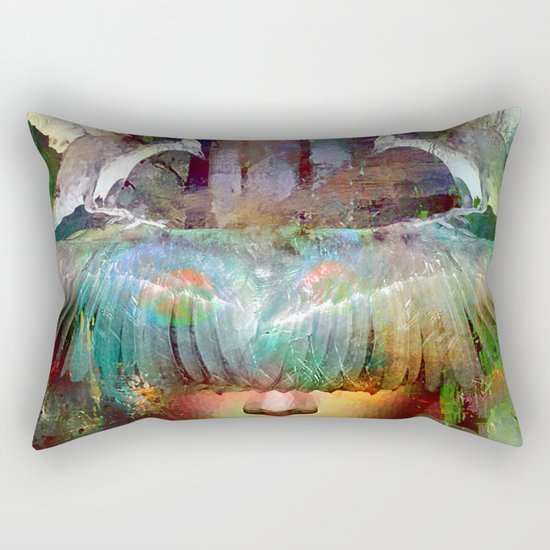 The guardian of the dusk Rectangular Pillow