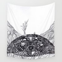 turtle Wall Tapestries featuring Turtle by Alexander.Leake