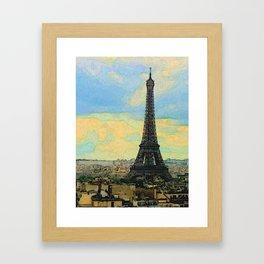Watercolor Dream of Paris Framed Art Print