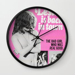Abigail Leslie Is Back In Town Wall Clock