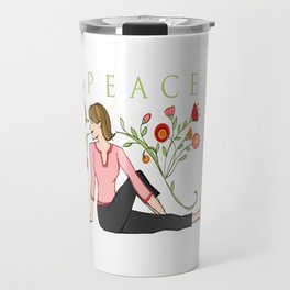Yoga Girls_Peacefull Twist_Robin Pickens Travel Mug