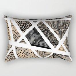 Geometric doodle pattern - neutral Rectangular Pillow