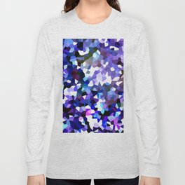 Ultra Violet Purple Blue Gems Long Sleeve T-shirt
