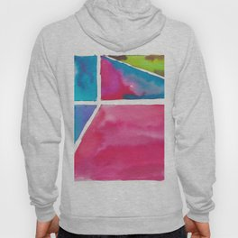 180811 Watercolor Block Swatches 12| Colorful Abstract |Geometrical Art Hoody
