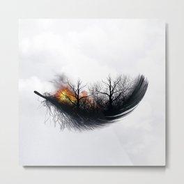 Feather II Metal Print