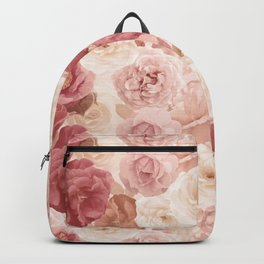 seamless   pattern with roses and leaves . Endless texture Backpack