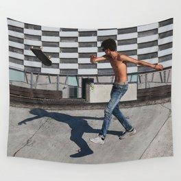 Skate boarding guy Wall Tapestry