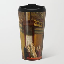 Pope Pius VII in the Sistine Chapel Oil Painting by Jean-Auguste-Dominique Ingres Travel Mug