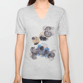 170714 Abstract Watercolour Play 10  Modern Watercolor Art   Abstract Watercolors Unisex V-Neck